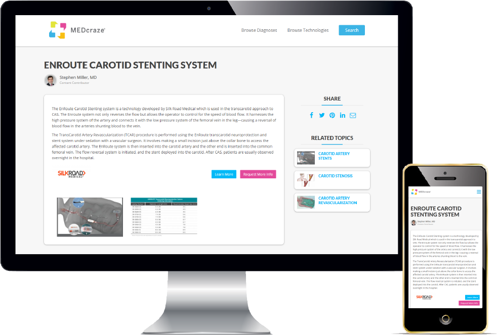 Enroute Carotid Stenting System